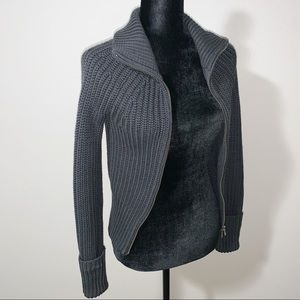 A|X Armani Exchange Knit Zip Up Jacket